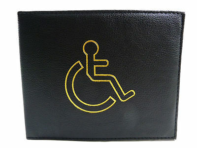 Disabled Blue Badge Holder Cover Protector Wallet PU Leather Parking Permit BLAC