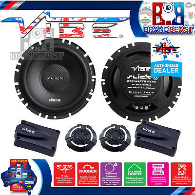 "New Vibe Slick6C-V3 Slick Series 270 Watt 3 Way 6.5"" Component Speakers Splits"
