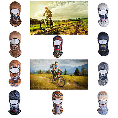 10 Styles 3D Animals Motorcycle Balaclava Neck Winter Ski Full Face Mask Cap Hat