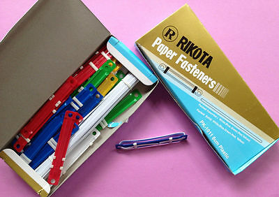 45 PRONG PAPER FASTENERS - Easy Seal Secure Base Office Document - Multicoloured