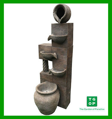LX62561 Posts with Pots Water Feature Fountain with Pump WF001