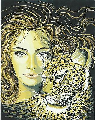 LEOPARD DREAMER needlepoint / tapestry- 50 x 60 cm canvas to stitch! Last one!