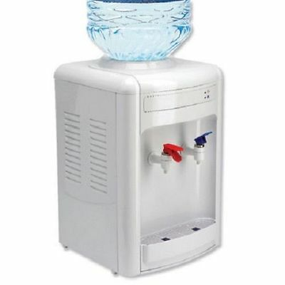 Justeau Water Cooler Dispenser Table Top White ACC/WW Hot Cold Refreshing Drinks