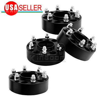 """4X Black Ford F-150 Wheel Spacers Raptor Expedition Adapters 1.5"""" Hub Centric"""