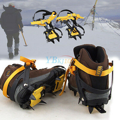 New 10 Teeth Anti-slip Ice Gripper for Shoe Boots Spike Safety Walking Crampons