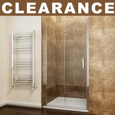Frameless Hinge Bi fold Shower Door Enclosure and Tray Walk In Shower Cubicle