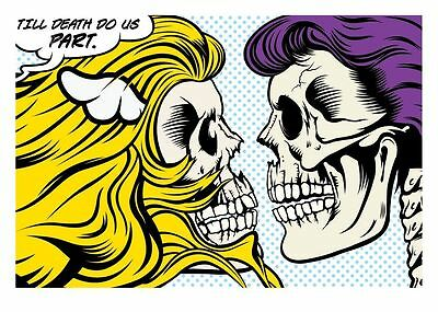 D*Face / Dface -Till Death Do Us Part Silk Screen Art Print ltd. 50 Streetart