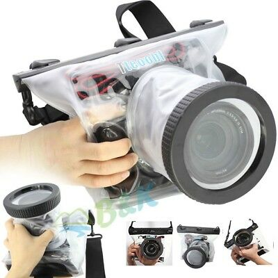20M SLR/DSLR Canon Nikon Camera Waterproof Underwater Case Bag Lens 14CM