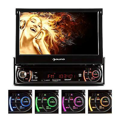 "Car Radio Bluetooth Dvd/cd Player Flip-Down 7"" Tft Screen Sd Usb Mp3 Aux Am Fm"