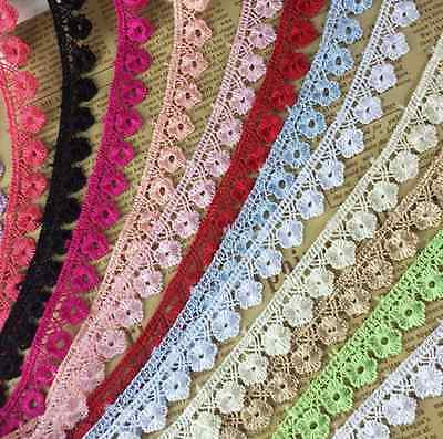 5Y Vintage Cotton Soluble lace Crochet Trim Wedding Bridal Ribbon Sewing Craft
