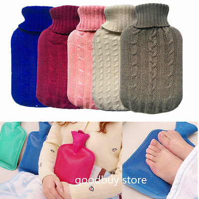 2L Hot Water Bottle Bag Sleeve Knitted Covers Relaxing Heat/Cold Therapy 2000 ML