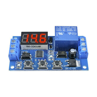 Digital LED Trigger Delay Time Cycle Timer Control Switch Relay Module 24V