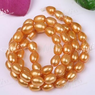 4-5mm Orange Cultured Freshwater Pearl Rice Loose Beads