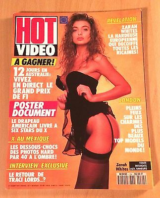Hot Video N° 24 / French Magazine Revue Erotic / Zarah Whites , Traci Lords