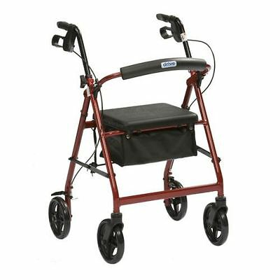 Lightweight Folding Aluminimum 4 Four Wheeled Rollator Walker Mobility Aid