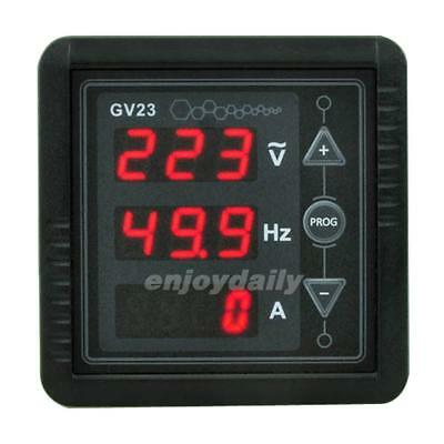 3 In1 Digital Red Led Display Ac85~265V Voltmeter Frequency Ammeter Panel Meter