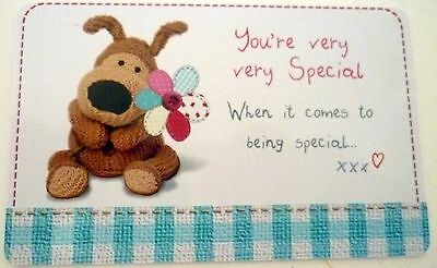 """boofle"" Heart Warmer Keepsake Message Card ""you're Very Very Special....xxx"""