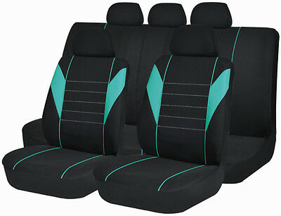 Car Seat Covers set Airbag Universal Cloth split back bucket protect SC1607-Mint