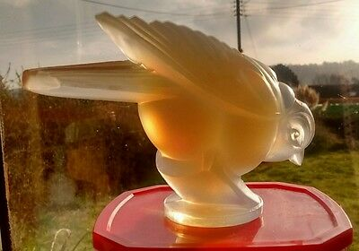 RARE LARGE Signed SABINO ART DECO BIRD PRIVATE COLLECTOR PERCHING BIRD