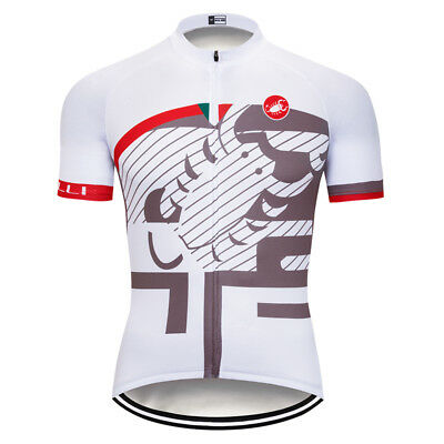 New Mens Road Bike Team Cycling Short Sleeve Tops Jersey Bicycle Clothing Wear