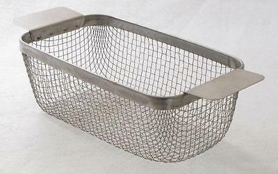 """ULTRASONIC CLEANING BASKET CP14M 304 SS WIRE MESH 9"""" x 5 x 3.125 part washing"""