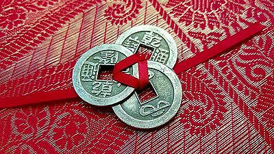 3 Lucky Chinese Coins - Good Luck Fortune Wealth Feng Shui I-Ching - FREE P&P