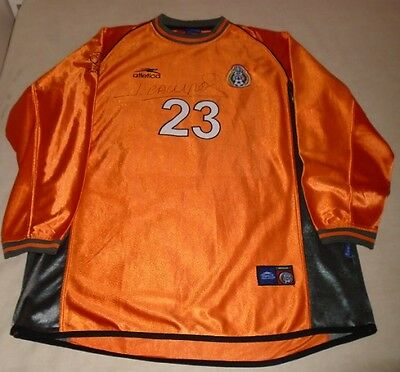 Mexico Jorge Campos Game Worn Used Signed Autographed 2002 World Cup jersey COA