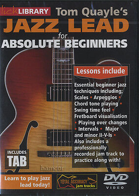 Tom Quayle's Jazz Lead for Absolute Beginners Lick Library Guitar Tuition DVD