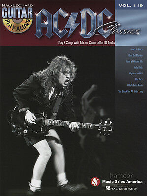 AC/DC Classics Guitar Play-Along TAB Music Book & Backing Tracks CD Heavy Rock