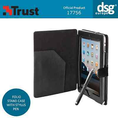 Genuine Trust Folio Stand Case Cover With Stylus Pen For Ipad 2 3 4