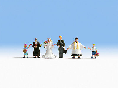 Wedding Group with Priest - OO/HO figures - Noch 15860 - free post