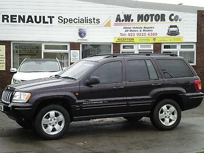 Jeep Grand Cherokee 2.7 CRD auto Limited diesel 4x4 estate 2003