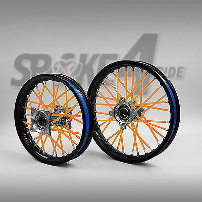 80 Couvre rayon Orange / Spoke Skins Motocross jante enduro YZF RMZ CRF SXF KTM