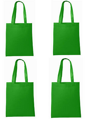 Qty 50 NEW Shopping Bag Reusable Grocery Bags Convenient Tote  Green Bulk Lot