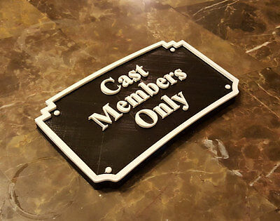 MGM Themed Cast Members Only Plaque / Sign