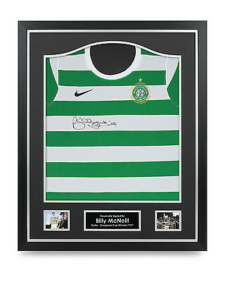 Billy McNeill Signed Shirt Framed Autograph 1967 Celtic Jersey Memorabilia COA
