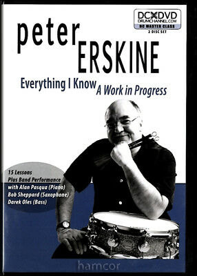 Peter Erskine Everything I Know A Work in Progress Drumming Drum Tuition 2 DVDs