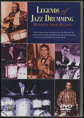 Legends of Jazz Drumming DVD Classic Footage of Over 40 Jazz Giants History