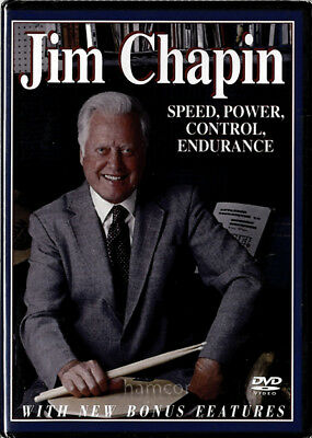 Jim Chapin Speed Power Control Endurance Drumming Drum Tuition DVD