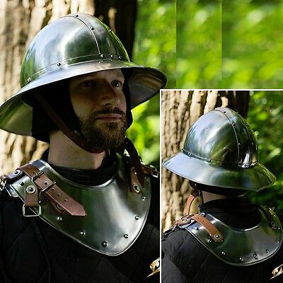 Warrior Steel Gorget / Neck Armour - Ideal For LARP & Re-Enactment