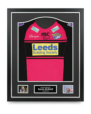Kevin Sinfield Signed Shirt Framed Autograph Leeds Rhinos Jersey Memorabilia COA