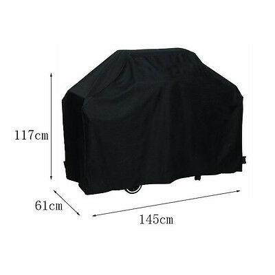 """58"""" BBQ Grill Cover Gas Barbecue Heavy Duty Waterproof Outdoor Weber Black"""