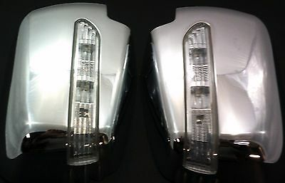 MITSUBISHI l200 2005-2015 Chrome Side Mirror covers with LED Lights