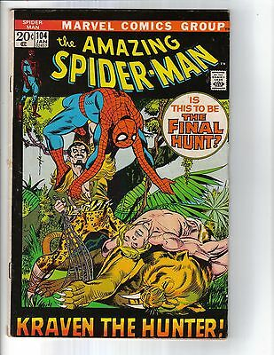 The Amazing Spider-Man #104 (Jan 1972, Marvel) VG/FN Free Shipping