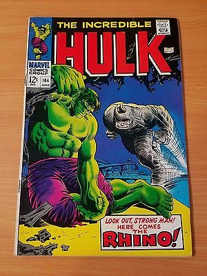 The Incredible Hulk #104 ~ FINE - VERY FINE VF ~ (1968, Marvel Comics)
