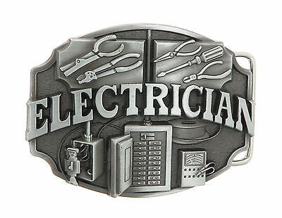 Electrician Tradesman Metal Belt Buckle