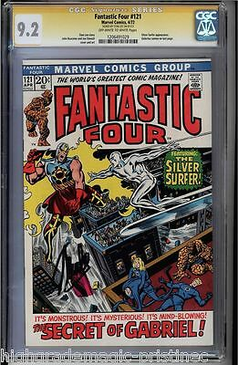 Fantastic Four #121 Cgc 9.2 Oww Pages Ss Stan Lee Signed Cgc #1206491029