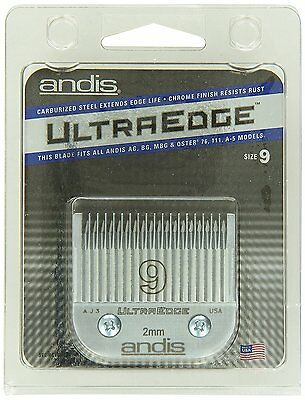 Andis Ultraedge Number 9 / 2 mm Full Tooth Blade **NEW / Free P&P**