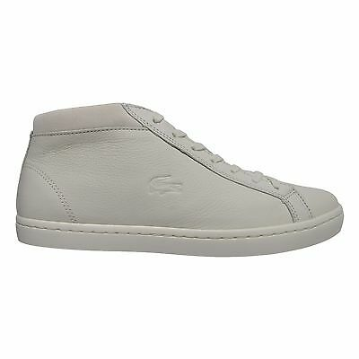 faec3a4ab462eb Lacoste Men s Straightset Casual Premium Leather Sneakers Chukkas Shoes  White