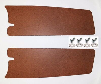 New! 1965-1966 Ford MUSTANG Trunk Filler Board Left and Right Side Pair w/ HW